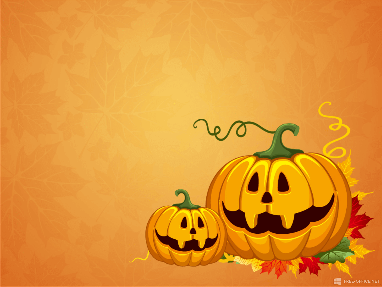 free halloween powerpoint template - Free Halloween Templates